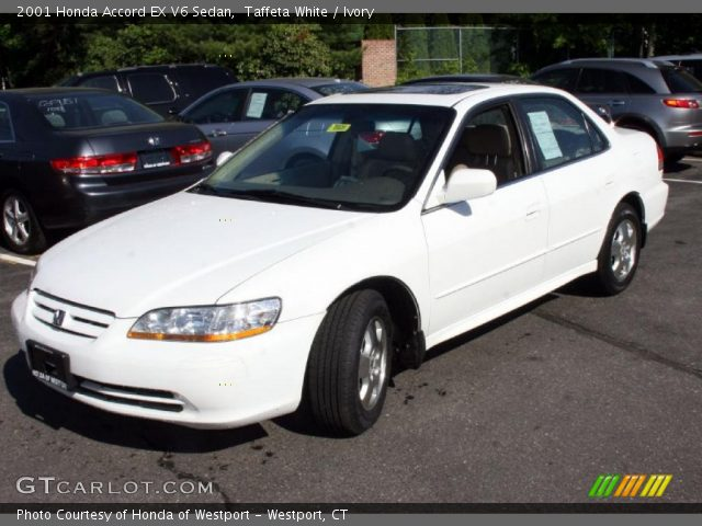 2001 Honda Accord Ex V6 Sedan In Taffeta White Click To See Large