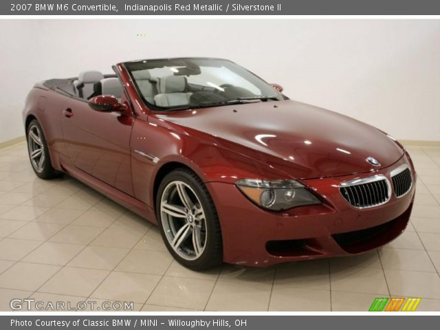 Indianapolis Red Metallic 2007 BMW M6 Convertible with Silverstone II