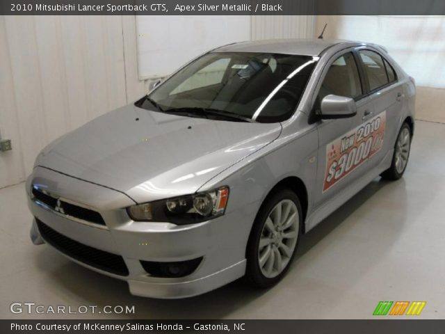 apex silver metallic 2010 mitsubishi lancer sportback. Black Bedroom Furniture Sets. Home Design Ideas