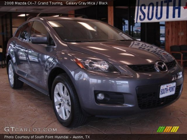 galaxy gray mica 2008 mazda cx 7 grand touring black interior vehicle. Black Bedroom Furniture Sets. Home Design Ideas