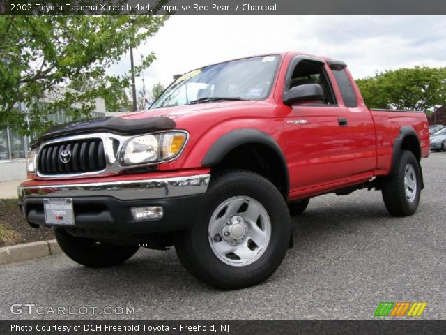 impulse red pearl 2002 toyota tacoma xtracab 4x4 charcoal interior vehicle. Black Bedroom Furniture Sets. Home Design Ideas