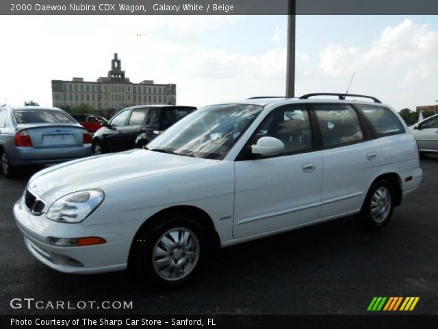 2000 Daewoo Nubira CDX Wagon in Galaxy White