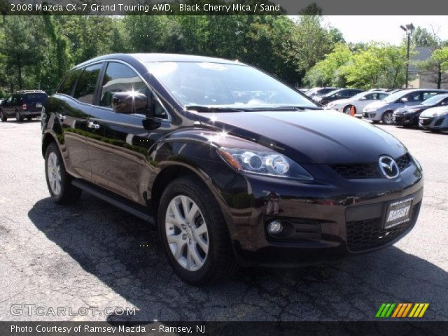 black cherry mica 2008 mazda cx 7 grand touring awd sand interior vehicle. Black Bedroom Furniture Sets. Home Design Ideas