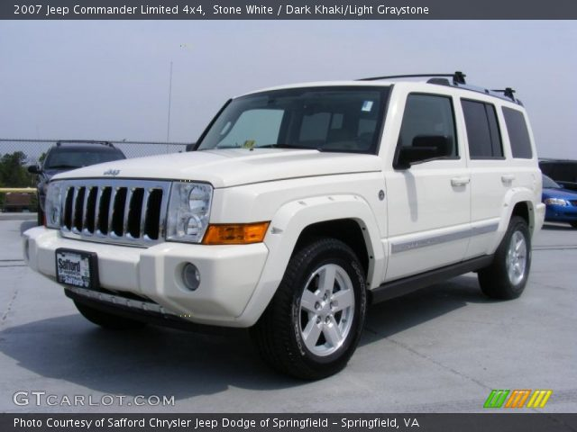 stone white 2007 jeep commander limited 4x4 dark khaki. Black Bedroom Furniture Sets. Home Design Ideas