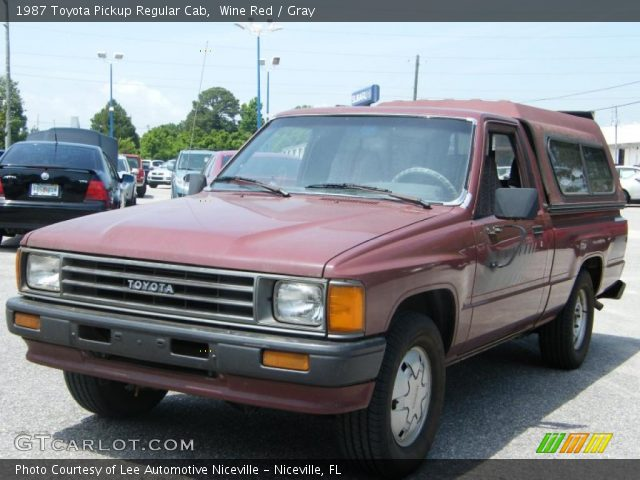 1987 Toyota Pickup Regular Cab in Wine Red