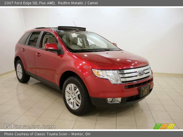redfire metallic 2007 ford edge sel plus awd camel interior vehicle archive. Black Bedroom Furniture Sets. Home Design Ideas