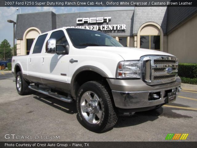 Oxford White Clearcoat 2007 Ford F250 Super Duty King Ranch Crew Cab 4x4 Castano Brown