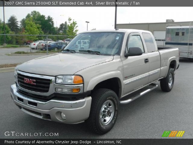 silver birch metallic 2007 gmc sierra 2500hd slt. Black Bedroom Furniture Sets. Home Design Ideas
