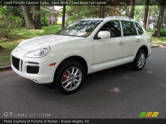 Sand White 2008 Porsche Cayenne Turbo with Sand Beige Full Leather interior