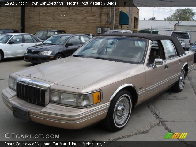 mocha frost metallic 1992 lincoln town car executive beige interior vehicle. Black Bedroom Furniture Sets. Home Design Ideas