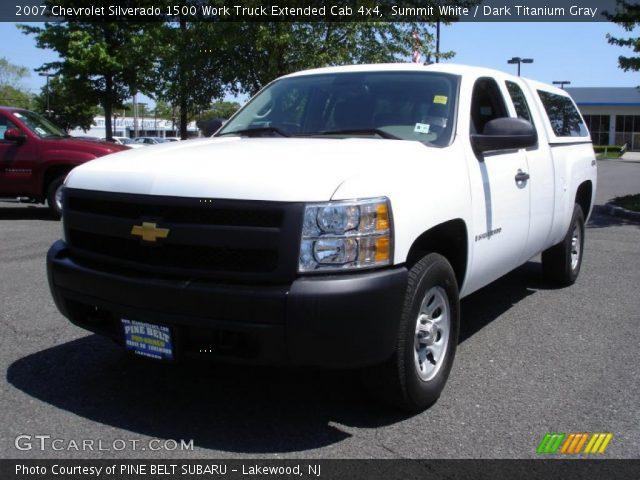 2007 Chevrolet Silverado 1500 Work Truck Extended Cab 4x4 in Summit White