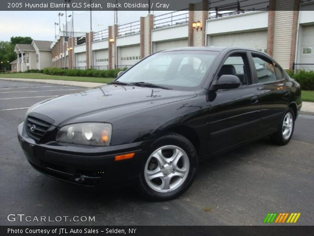 black obsidian 2005 hyundai elantra gls sedan gray. Black Bedroom Furniture Sets. Home Design Ideas