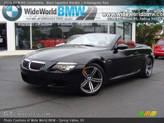 Black Sapphire Metallic 2008 BMW M6 Convertible with Indianapolis Red