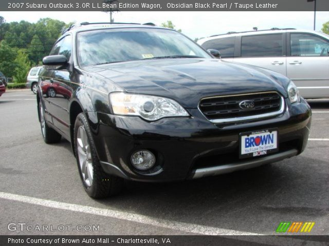 obsidian black pearl 2007 subaru outback 3 0r l l bean. Black Bedroom Furniture Sets. Home Design Ideas