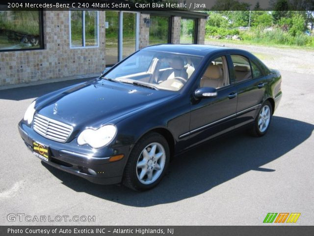 capri blue metallic 2004 mercedes benz c 240 4matic sedan java interior. Black Bedroom Furniture Sets. Home Design Ideas