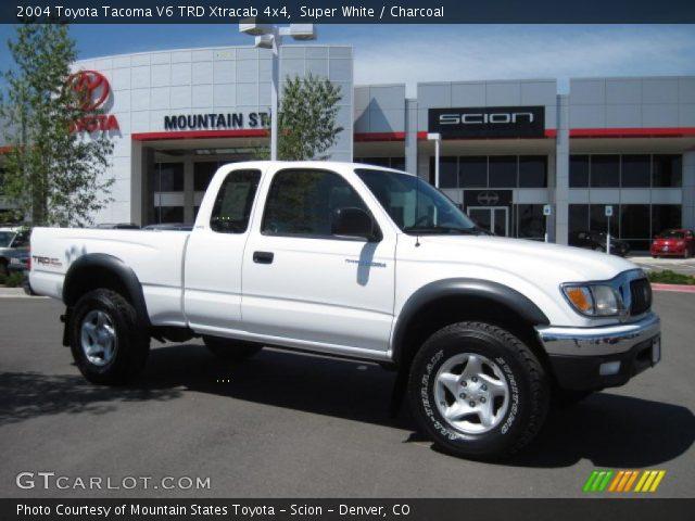2004 Toyota Tacoma Xtracab >> Super White - 2004 Toyota Tacoma V6 TRD Xtracab 4x4 - Charcoal Interior | GTCarLot.com - Vehicle ...