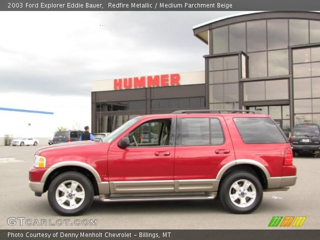 redfire metallic 2003 ford explorer eddie bauer medium parchment beige interior gtcarlot. Black Bedroom Furniture Sets. Home Design Ideas