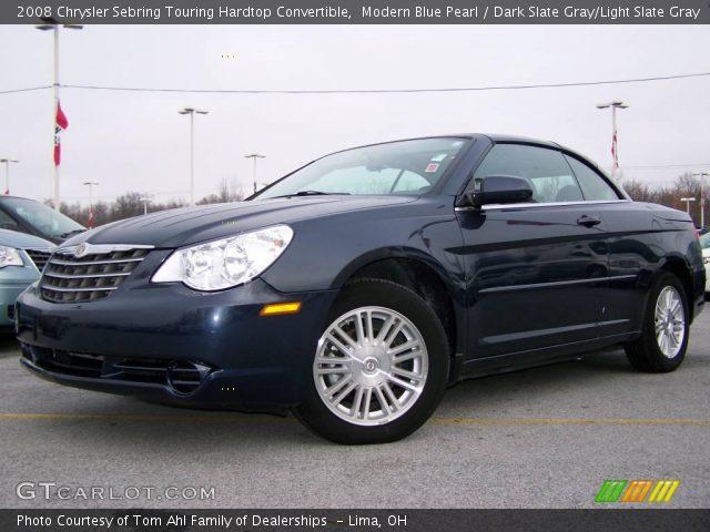 modern blue pearl 2008 chrysler sebring touring hardtop convertible dark slate gray light. Black Bedroom Furniture Sets. Home Design Ideas