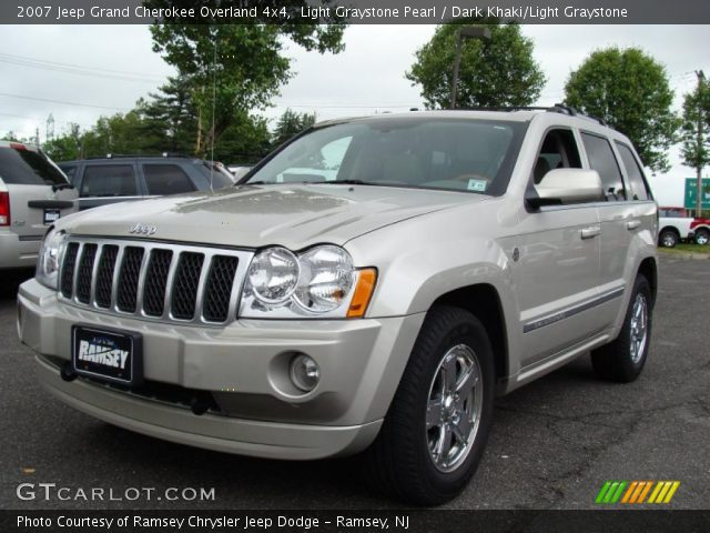 light graystone pearl 2007 jeep grand cherokee overland. Black Bedroom Furniture Sets. Home Design Ideas