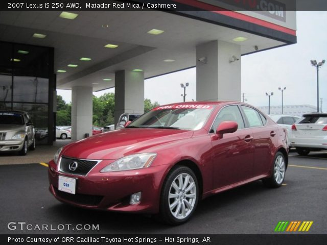 matador red mica 2007 lexus is 250 awd cashmere interior vehicle archive. Black Bedroom Furniture Sets. Home Design Ideas