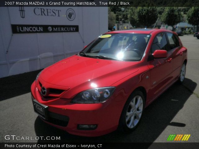 true red 2007 mazda mazda3 s grand touring hatchback black interior vehicle. Black Bedroom Furniture Sets. Home Design Ideas