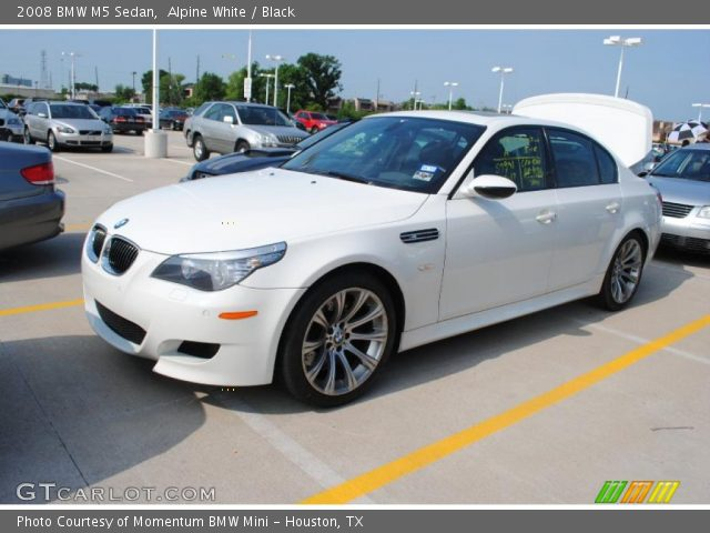 alpine white 2008 bmw m5 sedan black interior. Black Bedroom Furniture Sets. Home Design Ideas