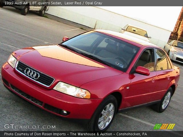 laser red 1999 audi a4 1 8t quattro sedan opal gray interior vehicle. Black Bedroom Furniture Sets. Home Design Ideas