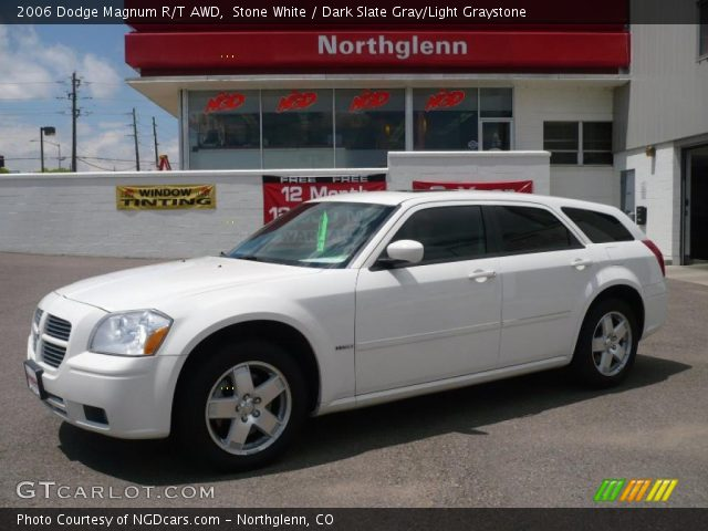 Stone White - 2006 Dodge Magnum R/T AWD - Dark Slate Gray ...