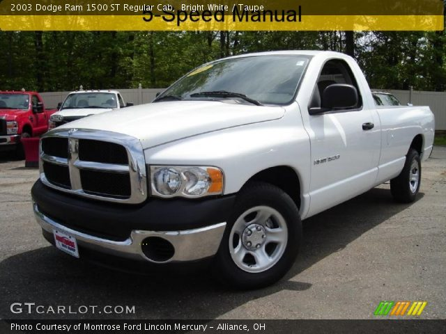 bright white 2003 dodge ram 1500 st regular cab taupe interior vehicle. Black Bedroom Furniture Sets. Home Design Ideas