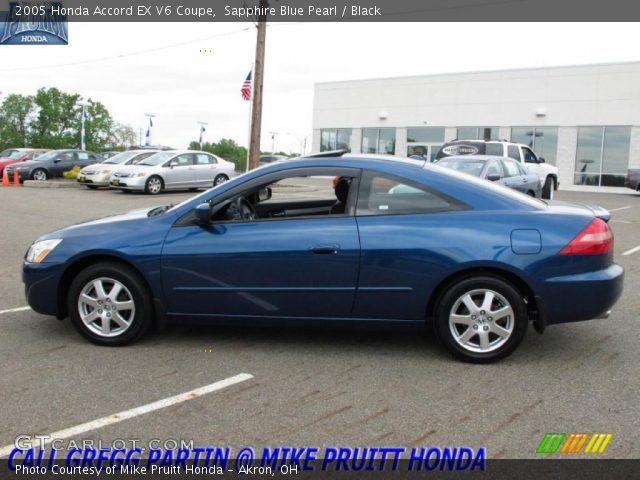 sapphire blue pearl 2005 honda accord ex v6 coupe black interior vehicle. Black Bedroom Furniture Sets. Home Design Ideas