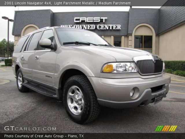 Light Parchment Metallic 2001 Lincoln Navigator 4x4 Medium Parchment Interior