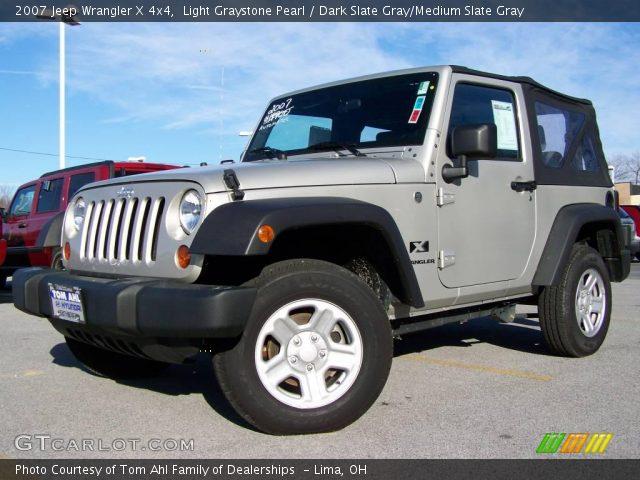 Light Graystone Pearl 2007 Jeep Wrangler X 4x4 Dark Slate Gray Medium Slate Gray Interior