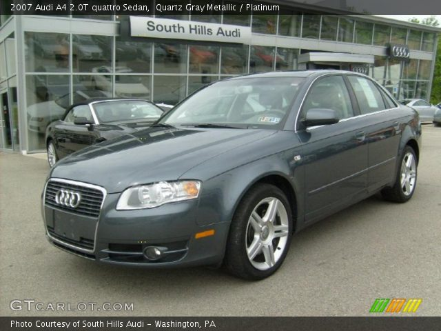 quartz gray metallic 2007 audi a4 2 0t quattro sedan. Black Bedroom Furniture Sets. Home Design Ideas