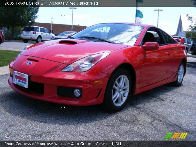 absolutely red 2005 toyota celica gt black red interior gtcarlot. Black Bedroom Furniture Sets. Home Design Ideas