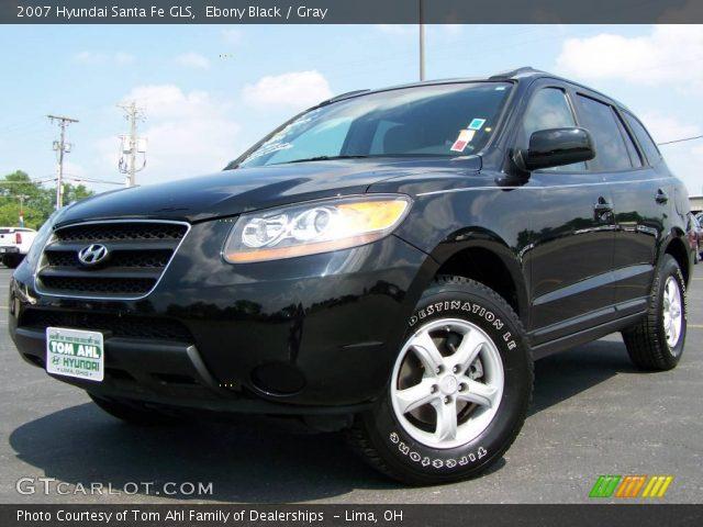 ebony black 2007 hyundai santa fe gls gray interior vehicle archive 2974458. Black Bedroom Furniture Sets. Home Design Ideas