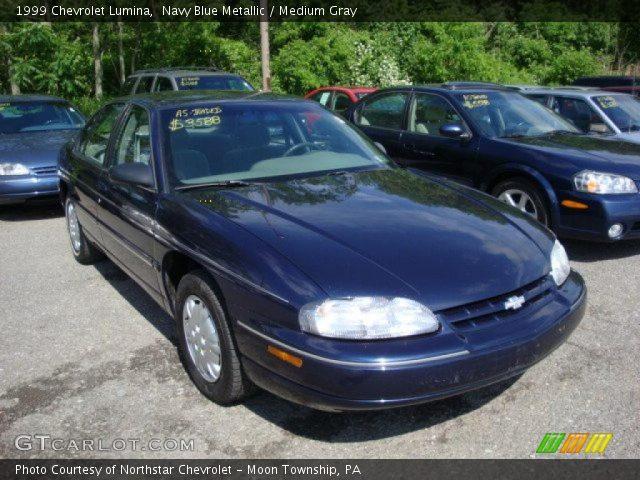 Navy Blue Metallic 1999 Chevrolet Lumina Medium Gray Interior