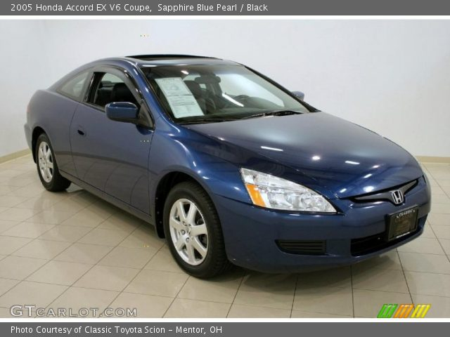 sapphire blue pearl 2005 honda accord ex v6 coupe. Black Bedroom Furniture Sets. Home Design Ideas