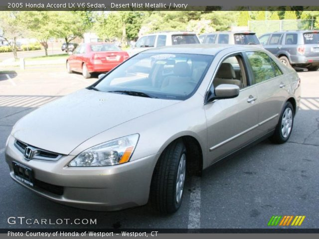 desert mist metallic 2005 honda accord lx v6 sedan ivory interior vehicle. Black Bedroom Furniture Sets. Home Design Ideas