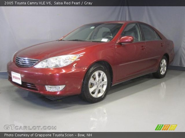 salsa red pearl 2005 toyota camry xle v6 gray interior vehicle archive. Black Bedroom Furniture Sets. Home Design Ideas