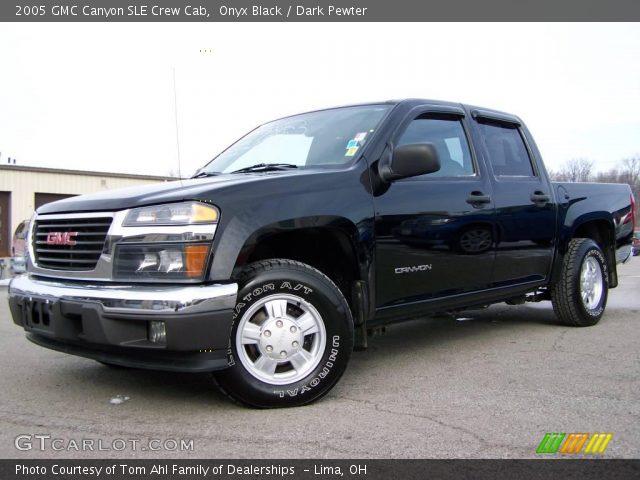 onyx black 2005 gmc canyon sle crew cab dark pewter interior vehicle. Black Bedroom Furniture Sets. Home Design Ideas
