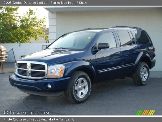 patriot blue pearl 2005 dodge durango limited khaki. Black Bedroom Furniture Sets. Home Design Ideas