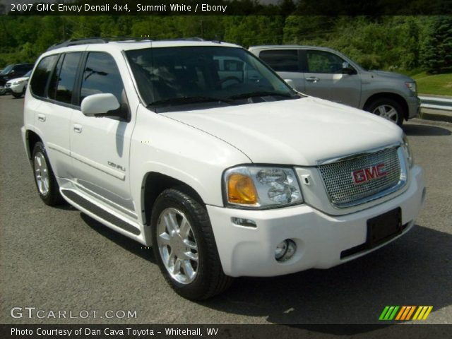 summit white 2007 gmc envoy denali 4x4 ebony interior. Black Bedroom Furniture Sets. Home Design Ideas
