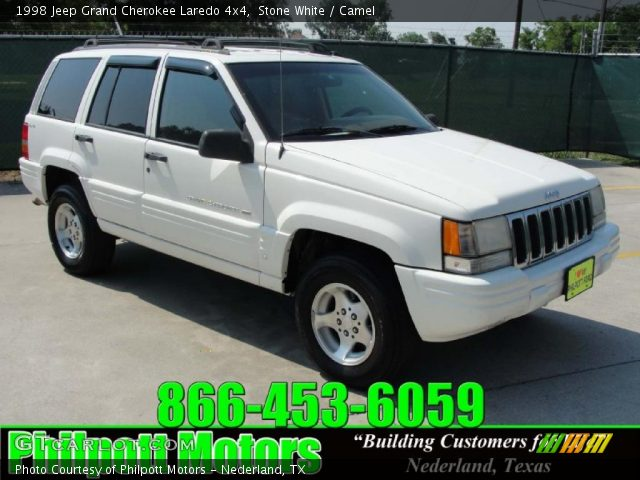 stone white 1998 jeep grand cherokee laredo 4x4 camel interior vehicle. Black Bedroom Furniture Sets. Home Design Ideas
