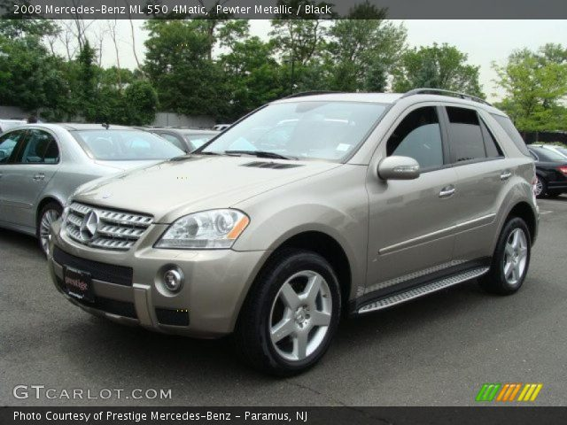 Pewter metallic 2008 mercedes benz ml 550 4matic black for 2008 mercedes benz ml550 4matic