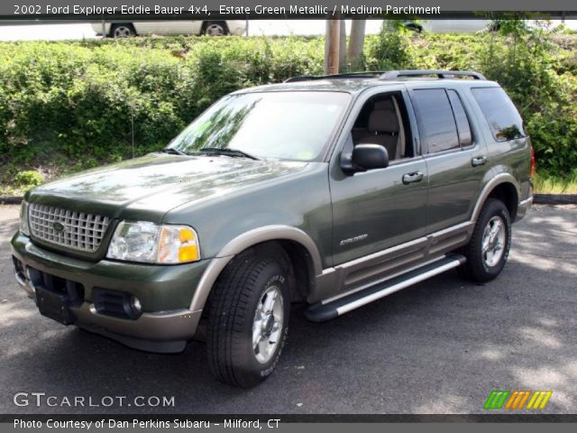 estate green metallic 2002 ford explorer eddie bauer 4x4 medium parchment interior. Black Bedroom Furniture Sets. Home Design Ideas