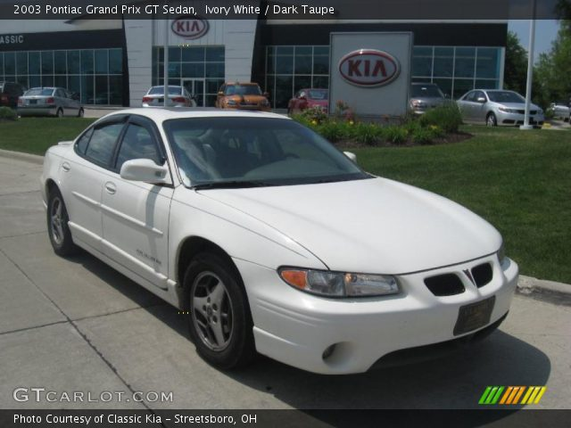 ivory white 2003 pontiac grand prix gt sedan dark. Black Bedroom Furniture Sets. Home Design Ideas
