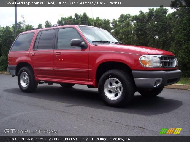 bright red clearcoat 1999 ford explorer xlt 4x4 dark. Black Bedroom Furniture Sets. Home Design Ideas