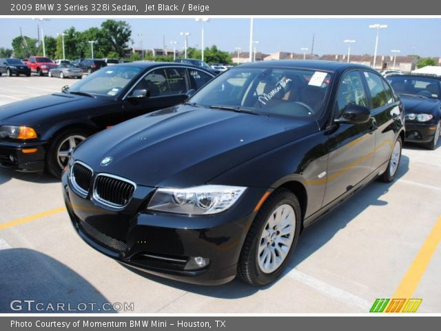 jet black 2009 bmw 3 series 328i sedan beige interior vehicle archive 30752576. Black Bedroom Furniture Sets. Home Design Ideas