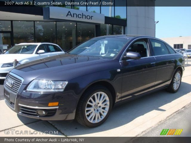 daytona grey pearl 2007 audi a6 3 2 quattro sedan ebony interior vehicle. Black Bedroom Furniture Sets. Home Design Ideas