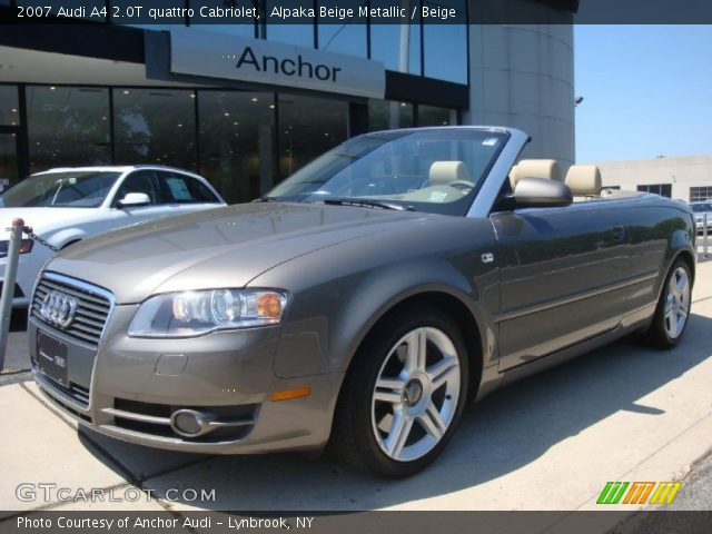 alpaka beige metallic 2007 audi a4 2 0t quattro. Black Bedroom Furniture Sets. Home Design Ideas